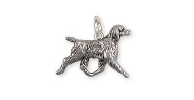 Brittany Dog Charm Handmade Sterling Silver Dog Jewelry BR6-C