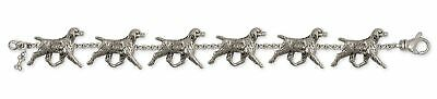 Brittany Dog Bracelet Handmade Sterling Silver Dog Jewelry BR6-BR