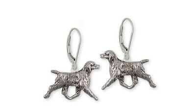 Brittany Dog Earrings Handmade Sterling Silver Dog Jewelry BR6-E
