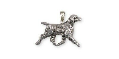 Brittany Dog Pendant Handmade Sterling Silver Dog Jewelry BR6-P