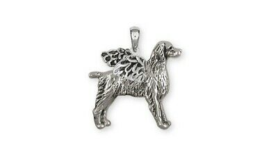 Brittany Angel Pendant Handmade Sterling Silver Dog Jewelry BR7-AP
