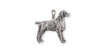 Brittany Dog Pendant Handmade Sterling Silver Dog Jewelry BR7-P