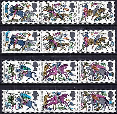 1966 BATTLE OF HASTINGS 4d VALUES ( COLOUR SHIFT ) VARIETY UNMOUNTED MINT