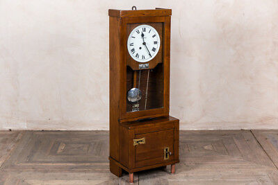 Vintage Time Recorder Clocking In Clock Wood Full Working Order