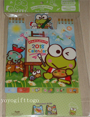 2018 Sanrio Keroppi Frog Pop Up Calendars with stickers