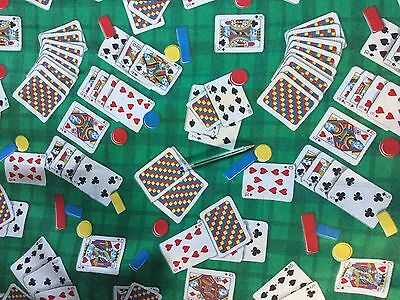 Vintage 1950s  French Curtain Fabric Cards Poker