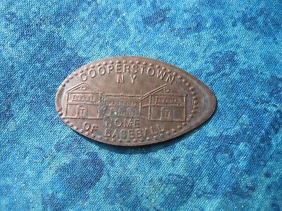 COOPERSTOWN NEW YORK HOME OF BASEBALL Elongated Penny Pressed Smashed 29