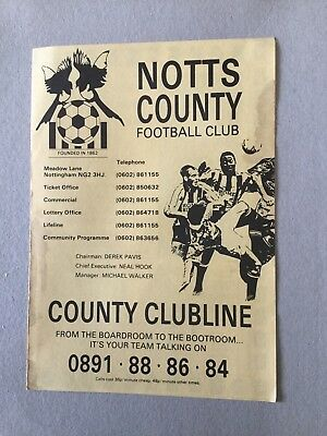 NOTTS COUNTY Res v DERBY COUNTY Res 1993/4.