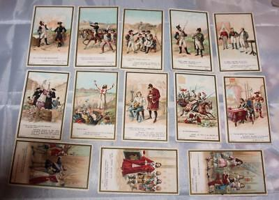 Lot of Antique Victorian Trade Cards Advertising French Coffee Beriot Napoleon