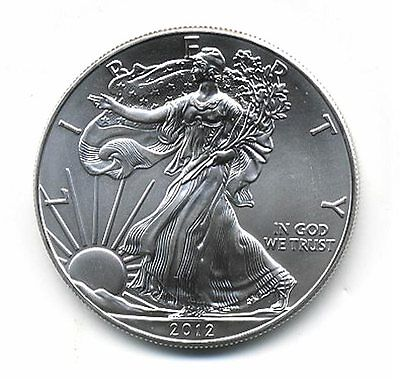2012 American Silver Eagle Dollar US Mint Brilliant Uncirculated One Troy Ounce