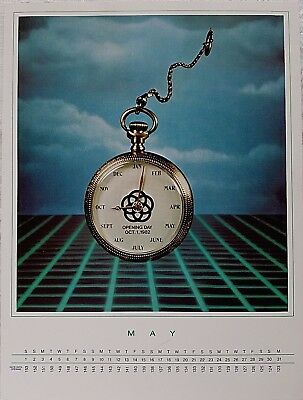 Rare 1982 Disney Wdw Epcot Center Pre Opening May  Pocket Watch Cast Calendar