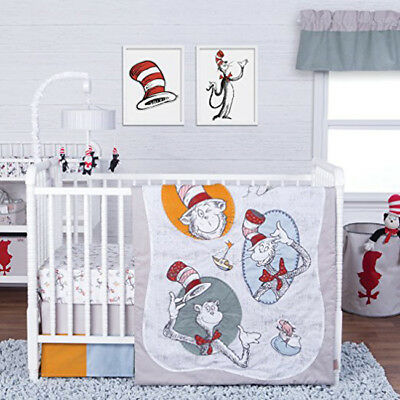 Trend Lab Dr. Seuss Classic Cat in the Hat 3 Piece Crib Bedding Set