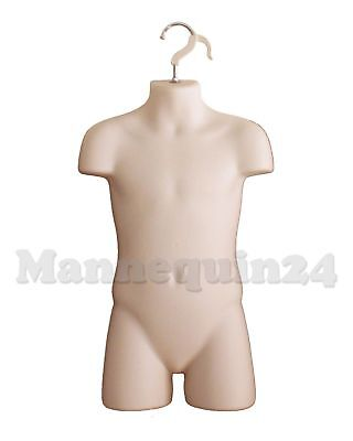 Child Mannequin Flesh Kids Hanging Torso Dress Form