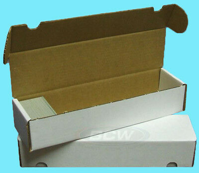 2 BCW 800 COUNT CARDBOARD CARD STORAGE BOXES Trading Sports Case Baseball Yugioh