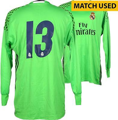 Kiko Casilla Real Madrid Match-Used Green #13 Jersey Used During Item#6515041