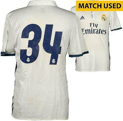 Philipp Lienhart Real Madrid Match-Used White #34 Jersey Used Item#6515037