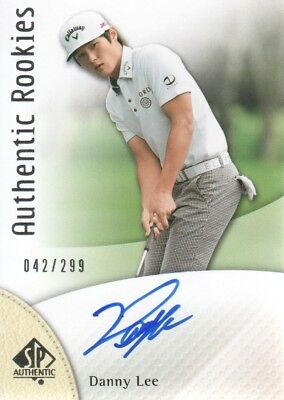 2014 SP Authentic Golf Card #107 Danny Lee Rookie Auto /299