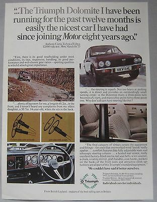 1973 Triumph Dolomite Original advert No.2