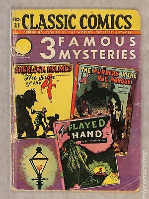 Classics Illustrated 021 3 Famous Mysteries (1944) #2 GD- 1.8