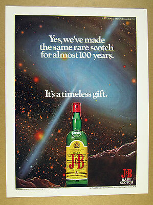 1977 Adolf Schaller astronomy space art J&B Scotch vintage print Ad