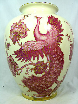 "Beautiful , handpainted  Jaeger & Co. Porzellan Vase  ""paradise bird ""  US Zone"