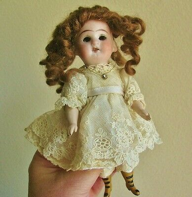 "Antique Vintage Miniature Bisque Doll, 6""  Wrestler Type?"