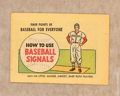 Finer Points of Baseball For Everyone: How to Use Baseball Signals #1960 VF 8.0