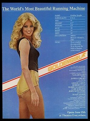 1976 Susan Anton photo Goldengirl movie release vintage print ad