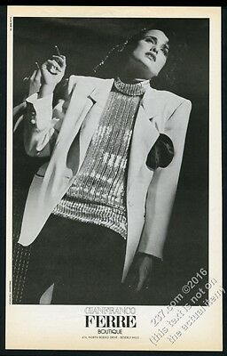 1984 Herb Ritts photo Gianfranco Ferre Boutique woman's blazer vintage print ad