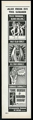 1973 The Flesh & Blood Show movie release trade print ad