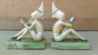 JB Hirsch Gershon Pixie Girl Elf Bookends Art Deco