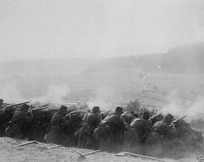 New World War I WWI 8x10 Photo - French infantry soldiers firing from a trench