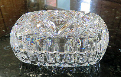 Rectangular Clear Glass Trinket Box or Candy Dish
