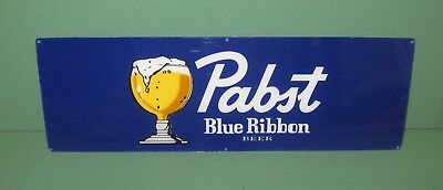 "Blue Pabst Ribbon ""PBR"" Plexiglass Beer Sign Man Cave Pool Wall Hanger 5"" x 17"""