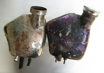 VINTAGE AJS MATCHLESS MOTORCYCLE OIL TANKS TO RESTORE 1950s/1960s G8O MODEL 18 +