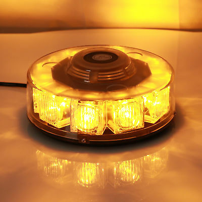 New 30W 10 LED Car Emergency Beacon Light Bar Strobe Flashing Warning Lamp Amber