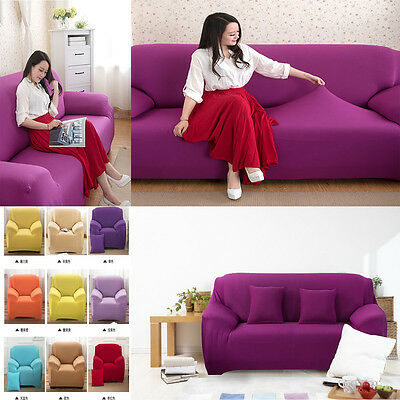1 2 3 4 Seater Stretch Chair Cover Sofa Covers Protector Couch Cover Slipcover P