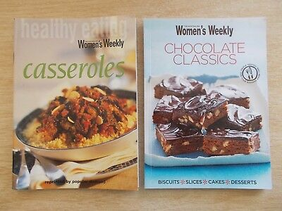 2 x Australian Women's Weekly Cookbooks~Casseroles & Chocolate Classics