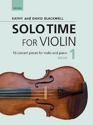 Kathy Blackwell/David Blackwell: Solo Time For Violin. Book 1, 2, & 3 Available