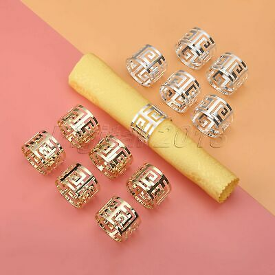 6Pcs Serviette Napkin Rings Holder Buckle Dinner Towel Wedding Party Table Decor