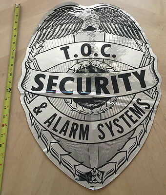 T.o.c. Private Security & Alarm Systems Police Cop  Car Door Shield Decal