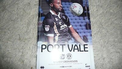 Port Vale V Forest Green Rovers 2017/18 League Two
