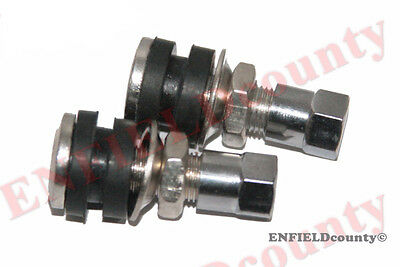 Pair Tubeless Steel Tyre Valve Bolt With Dust Cap For Motorbike And Scooter @cad