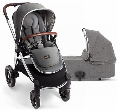 Mamas & Papas Ocarro Reversible Seat Baby Stroller with Bassinet Grey Twill