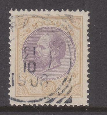 CURACAO, 1889 perf. 11 1/2, 2g.50 Mauve & Bistre, used.