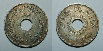 Middle East :  Palestine 10 Mils 1934