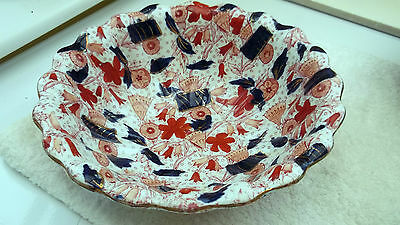 Hollinshead & Kirkham  [H&k] 1870-1900 Large Dessert Bowl  Japanese Pattern