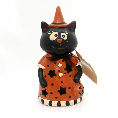 Halloween LED LITE HALLOWEEN FIGURINES Spooky Color Changing 31329 Cat