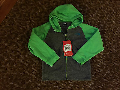NWT The North Face Unisex Sharp Gray/Lime Green Full Zip Fleece Hoodie - 5