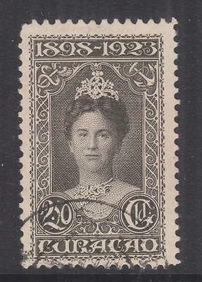 CURACAO, 1923 Silver Jubilee 2 1/2g. Olive Black, used.